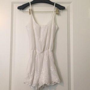 Bershka white lace romper size small